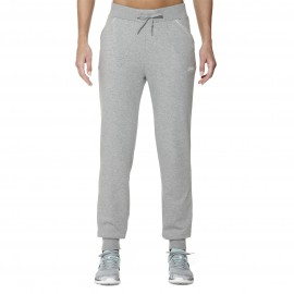 Pantalon de training en coton Asics Knit Cuffed Pant - gris clair