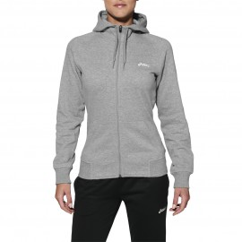 Sweat shirt capuche à tirette Asics, zippé Knit Full Zip Hoodie - gris clair