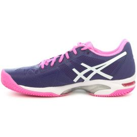 Asics Woman Gel Solution Speed 3 Clay Parachute Purple / White / Hot Pink