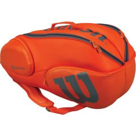 Sac de tennis Wilson Burn 9 pack Orange / Grey