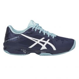 chaussure de tennis Asics Woman Gel Solution Speed 3 Clay Indigo Blue / White / Porcelain Blue