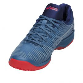 chaussure de tennis Asics Men Solution Speed FF Clay / Azure - White