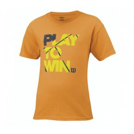 T-shirt Wilson play to win Neon Mango