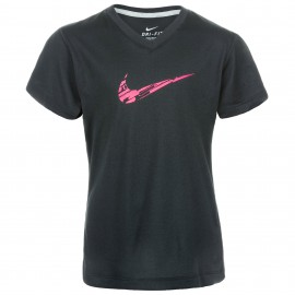 T-shirt Nike courtes manches polyester - Noir