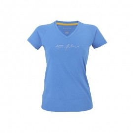 Cotton tee blue Lady Tecnifibre