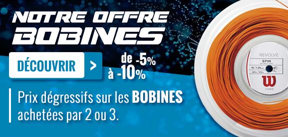 notre offre bobines : de -5 à -10%, Prix dégressifs sur les bobines achetées par 2 ou 3.